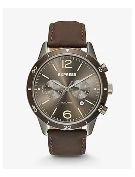 brown-leather-strap-multi-function-whittier-watch by express