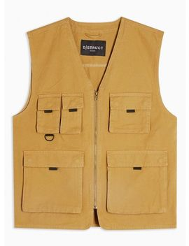 stone-pocket-utility-gilet by topman