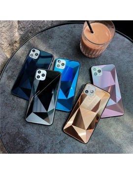 for-iphone-11-pro-xs-max-xr-7-8+-new-colorful-aurora-gradient-diamond-glass-case by unbranded_generic