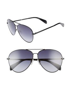 63mm-oversize-aviator-sunglasses by rag-&-bone