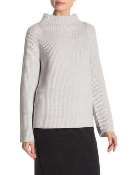 button-sleeve-wool-blend-ribbed-knit-sweater by vince