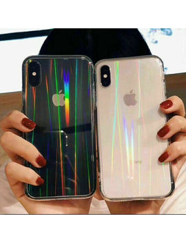 glossy-clear-aurora-laser-phone-case-for-iphone-11pro-max-x-xs-xr-6-6s-7-8-plus by unbranded_generic