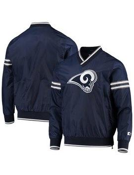los-angeles-rams-starter-gameday-trainer-pullover-sweatshirt---navy_white by fanatics