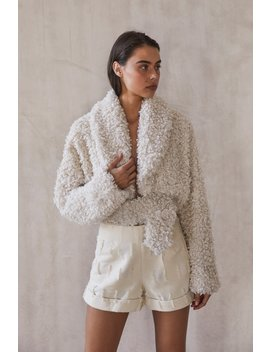 Evie Jacket   Off White by Cult Gaia