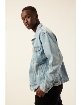 Oversized Wanderer Denim Jacket Thrift Blue by Thrills