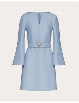 Crepe Couture Dress With V Pavé Belt by Valentino