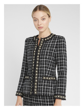 carmen-pearl-fitted-blazer by alice-and-olivia