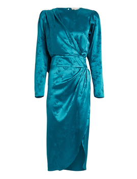 jade-palm-jacquard-dress by ronny-kobo