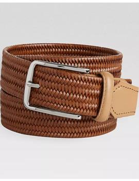 mens-wearhouse-cognac-stretch-leather-belt by mens-wearhouse