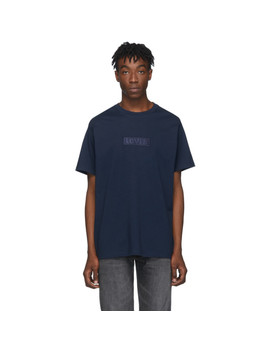 navy-relaxed-logo-t-shirt by levis