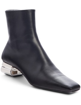 typo-metallic-logo-heel-bootie by balenciaga
