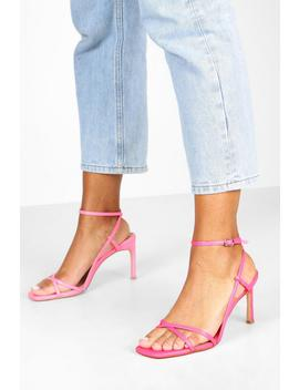 wide-fit-strappy-square-toe-heeled-sandals by boohoo