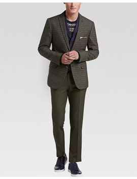 paisley-&-gray-slim-fit-suit-separates-vest,-navy-microsuede by paisley-&-gray