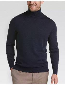 Joseph Abboud Blue Modern Fit Turtleneck Sweater by Joseph Abboud