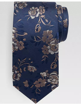 Awearness Kenneth Cole Blue Floral Narrow Tie by Awearness Kenneth Cole
