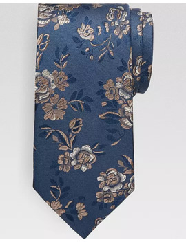Awearness Kenneth Tan On Navy Floral Narrow Tie by Awearness Kenneth Cole