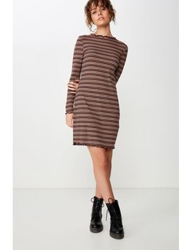 grace-high-neck-long-sleeve-mini-dress by cotton-on