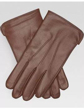Joseph Abboud Brown Leather Gloves by Joseph Abboud