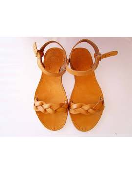greek-leather-sandals,-women-sandals,-handmade-sandals,-women-shoes,-natural-strappy-sandals by etsy