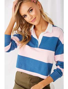 Striped Rugby Shirt by Forever 21