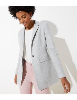 petite-long-modern-blazer by loft