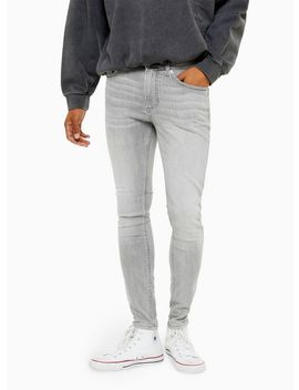 grey-denim-spray-on-jeans by topman