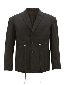 drawstring-wool-blend-blazer by eckhaus-latta