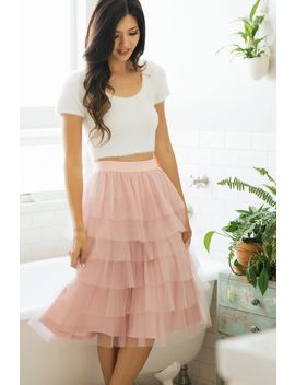 rosa-tulle-tiered-midi-skirt by morning-lavender