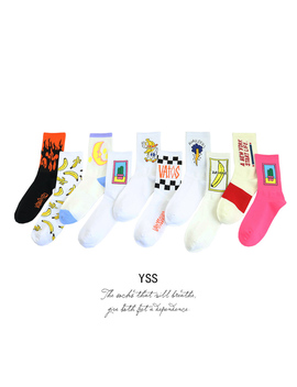 Free Shipping 3 Pairs Harajuku Cactus Socks More Color by Sheloveit Sheloveit