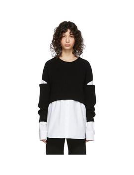 black-&-white-bi-layer-pullover-shirt-sweater by alexanderwangt
