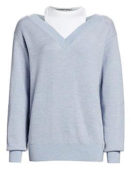 bi-layer-merino-wool-sweater by alexanderwangt