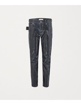 Pants In Shiny Denim by Bottega Veneta