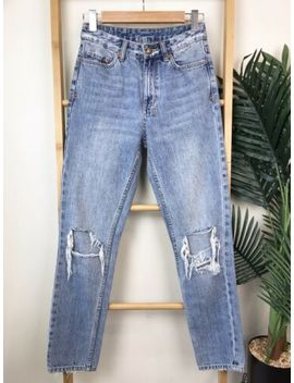 ksubi-slim-pin-placid-push-jeans-size-25-distressed-ripped-holes-cotton-womens by ksubi