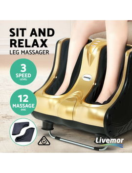 livemor-foot-massager-ankle-calf-leg-massagers-shiatsu-3d-kneading-rolling-gold by livemor