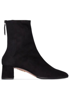 saint-honoré-50mm-stretch-ankle-boots by aquazzura