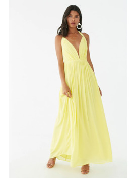 Chiffon Billowy Halter Dress by Forever 21