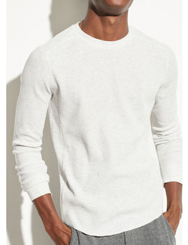 Waffle Long Sleeve Pullover by Vince