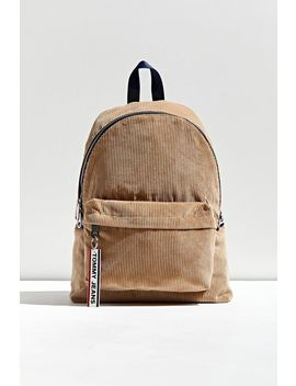 tommy-hilfiger-logo-tape-corduroy-backpack by tommy-hilfiger