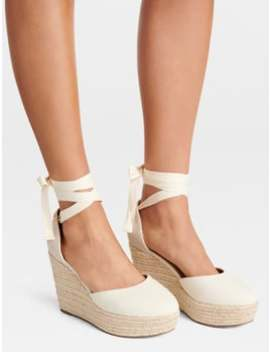 Martha Covered Toe Espadrille Wedges by Forever New