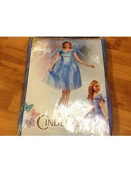 new-large-disney-cinderella-dress-adult-costume-deluxe-cosplay-womens-12-14 by disguise