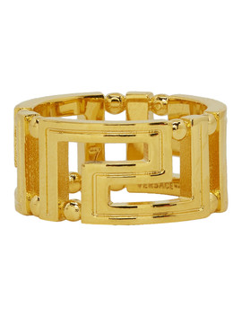 gold-empire-chain-ring by versace