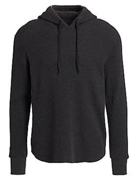 waffle-knit-cotton-hoodie by rag-&-bone