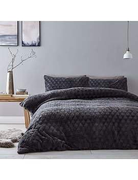 catherine-lansfield-soft-touch-diamond-grey-duvet-cover-and-pillowcase-set by dunelm