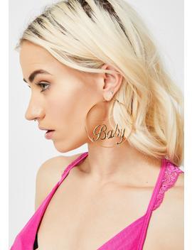 always-be-yours-hoop-earrings by dolls-kill