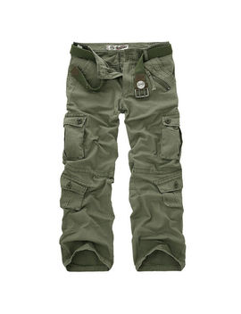 military-mens-cotton-cargo-pants-combat-camouflage-camo-army-hiking-trousers by unbranded