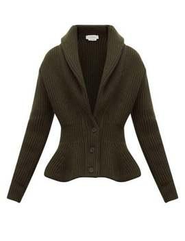 mcqueen-shawl-collar-wool-blend-cardigan by alexander-mcqueen