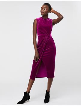 shelby-twist-velvet-shift-dress by monsoon