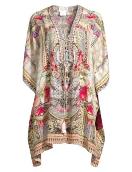 short-lace-up-silk-caftan by camilla