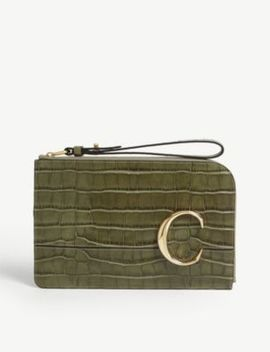 croc-embossed-small-leather-purse by chloe