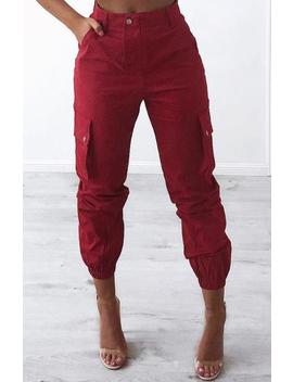 Ignition Cargo Pants   Red by Babyboo Fashion
